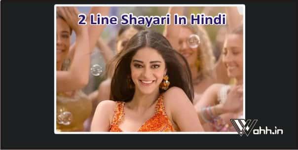 2 Line Shayari In Hindi