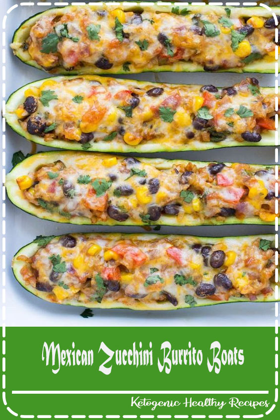 Mexican Zucchini Burrito Boats- a simple meatless meal packed with flavor! #vegetarian #glutenfree