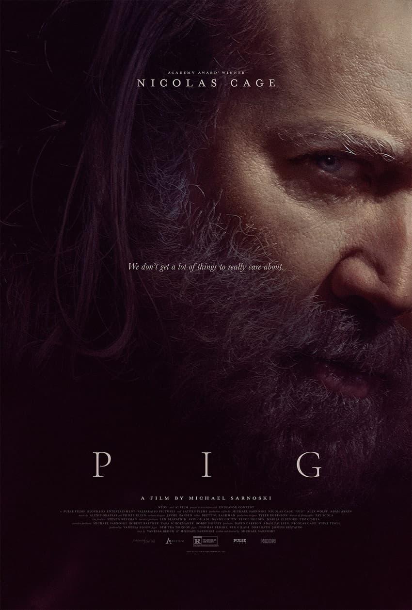 NEON показала трейлер ревендж-триллера «Свинья» с Николасом Кейджем - Постер