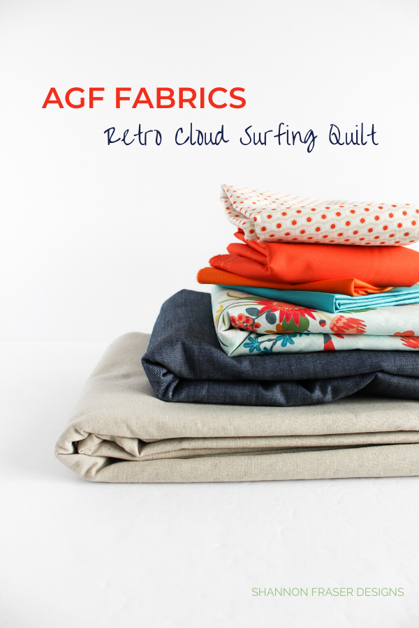 AGF Fabrics for Retro Cloud Surfing Quilt | Honest state of a modern quilter's WIP List | Q1 2020 Finish-a-Long | Shannon Fraser Designs #modernquilter #worksinprogress #modernquiltpattern #artgalleryfabrics
