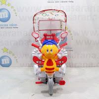 Sepeda Roda Tiga Family F993DT Lebah dengan Kanopi