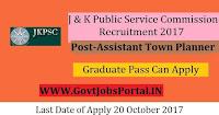 Jammu and Kashmir Public Service Commission Recruitment 2017– Assistant Town Planner