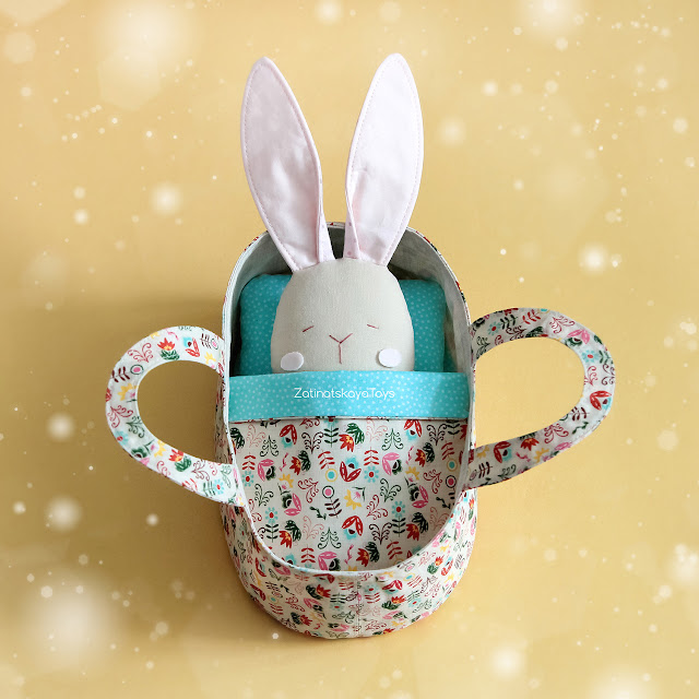 bunny toy with doll basket diy projects