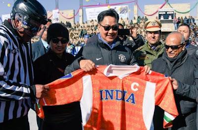 Union Minister Kiren Rijiju inaugurates 1st Khelo India Winter Games in Leh, Ladakh