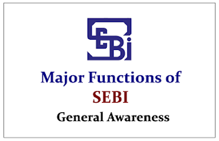 Major Functions of SEBI