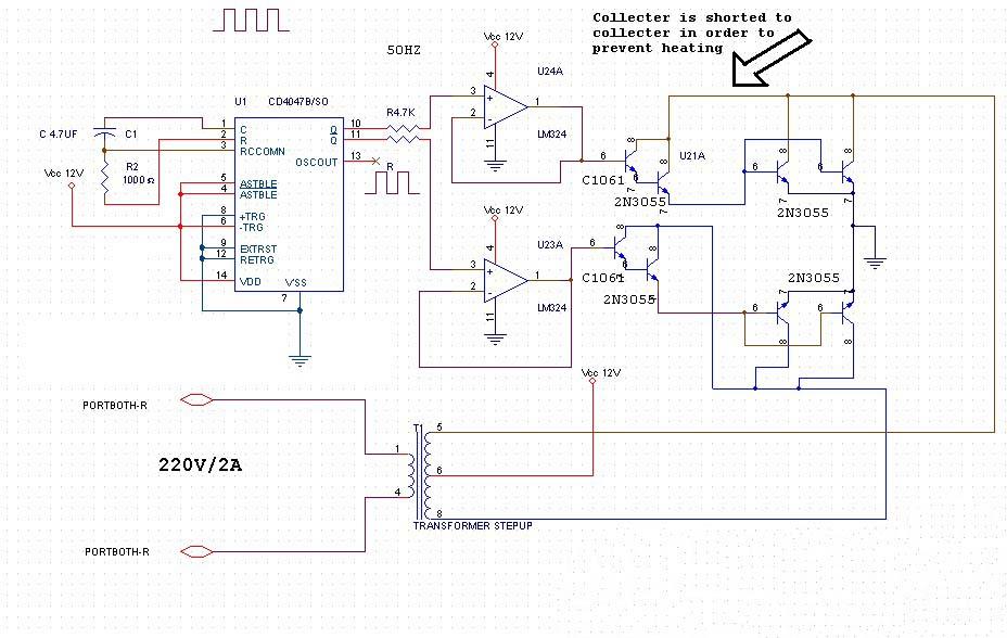 Skema Inverter 500 W
