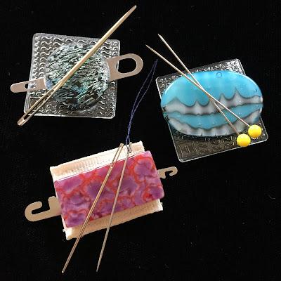 Fused Glass Magnetic Needle Minders/ Threaders