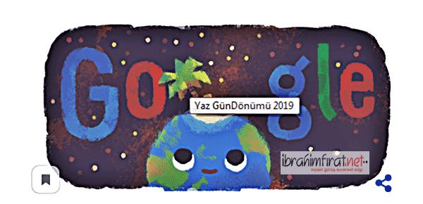 21 Haziran 2019 Yaz Gündönümü Google'da doodle.....