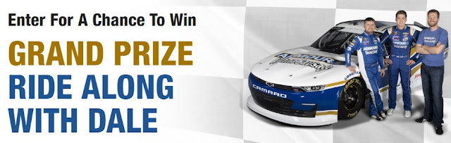 Here is your chance to enter to win a ride along with Dale Earnhardt Jr! Armour is giving away a lot of other prizes too so enter now!