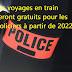 Les voyages en train seront gratuits pour les policiers à partir de 2022
