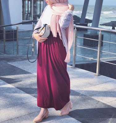 Hijab Long Skirt Style - Hijab Fashion