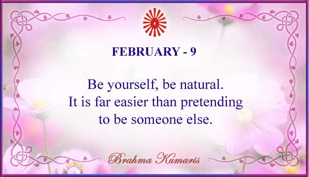 Thought For The Day February 9