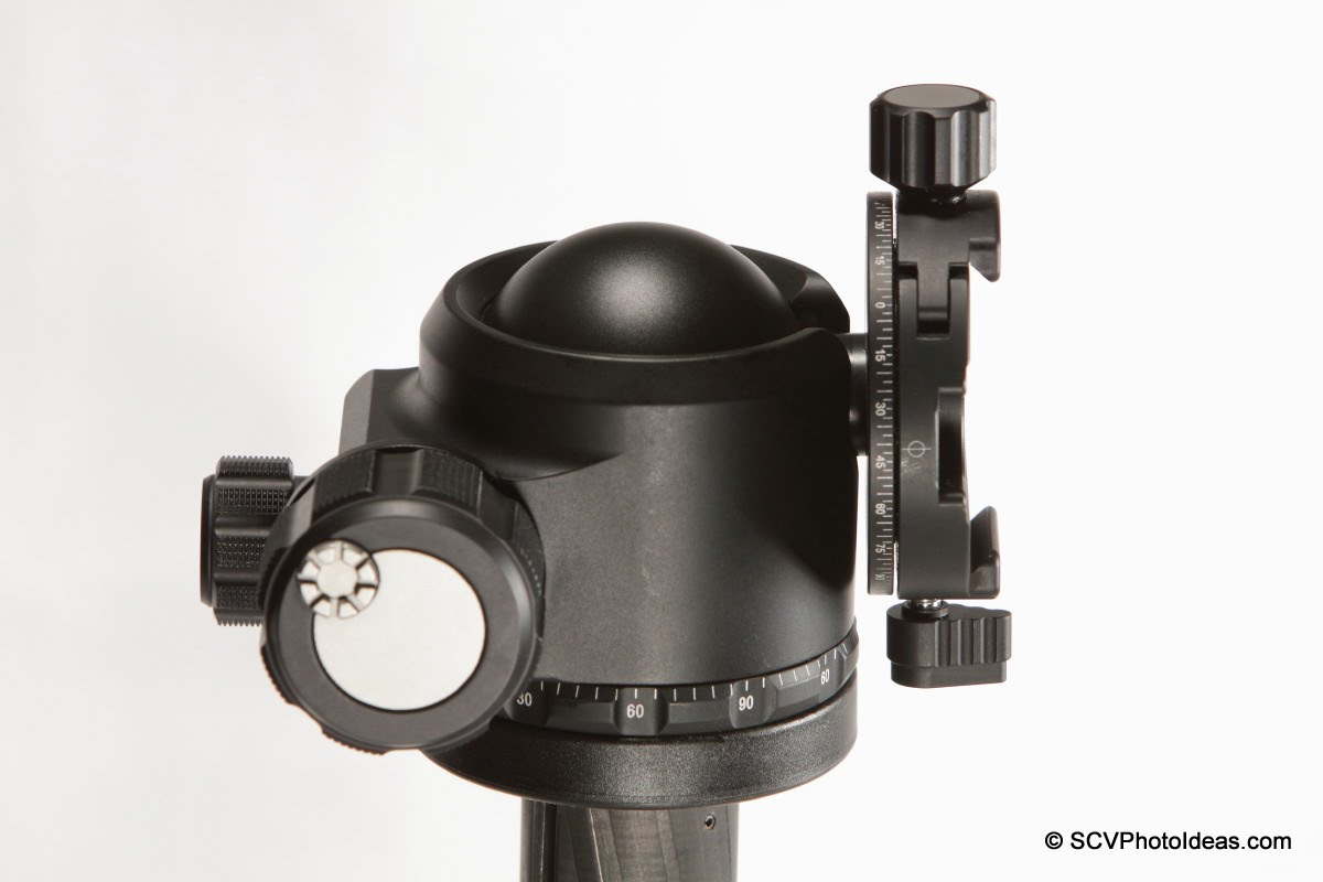 Sunwayfoto DDH-02 on Sunwayfoto XB-44 LP ball head - tilted lever issue