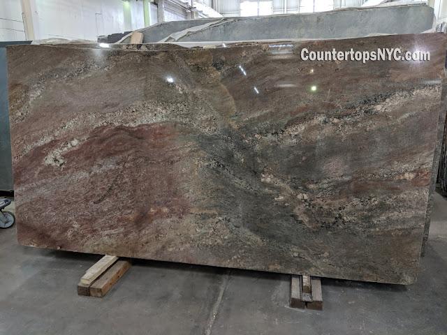 Oceanic Bordeaux Granite Slabs NYC