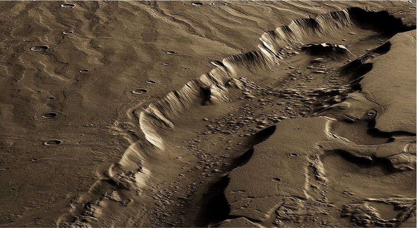 New Mystery landforms 'Glacier' Discovered On Mars