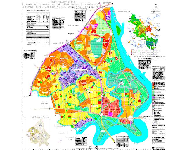 FIle cad bản vẻ quy hoạch quận 9