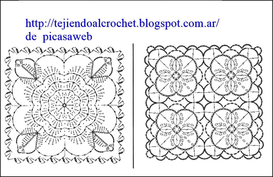 PATRONES - CROCHET - GANCHILLO - GRAFICOS: GRANNY , TEJIDOS A CROCHET