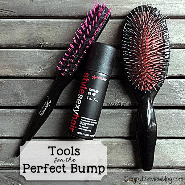 Sexy Hair Spray Clay, Spornette Teasing Brush, Sonia Kashuk Bristle Brush