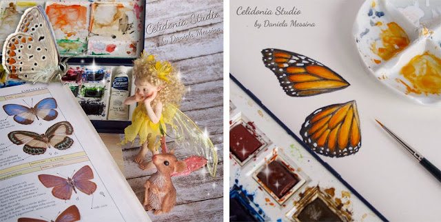ooak Fairy Butterfly - wip - video tutorial by Celidonia - Daniela Messina