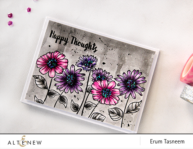 @Altenew Smile More stamp set pencil colored (faber castell classic) by @pr0digy0
