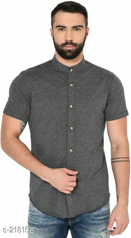 Stylish Cotton Solid Men's Shirt