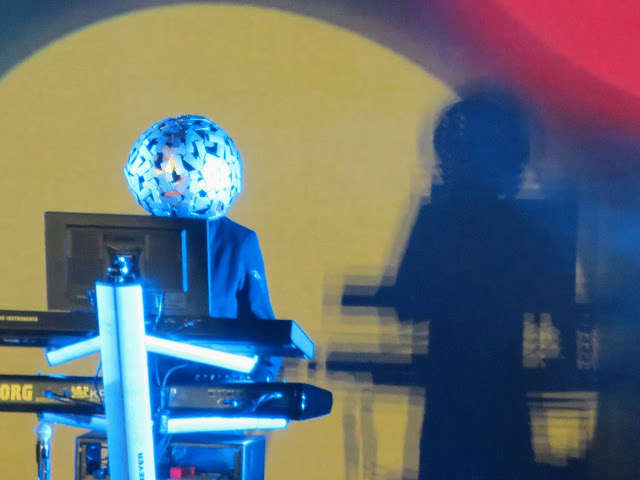 Chris Lowe of the Pet Shop Boys in Concert in Birmingham UK