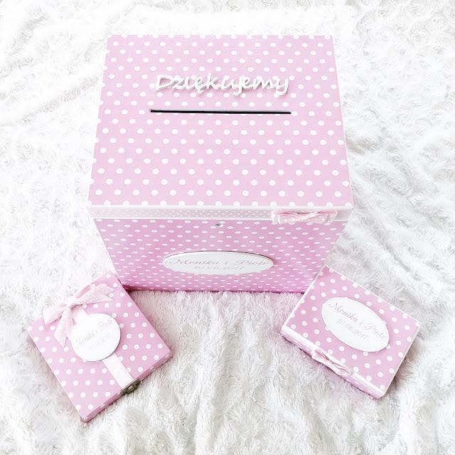 pudełka na koperty, pudełka na obrączi, zaproszenia dla rodziców