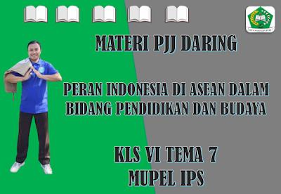 Materi IPS Kelas VI Tema 7 Subtema 3 - Peran Indonesia di Asean dalam Bidang Pendidikan dan Budaya