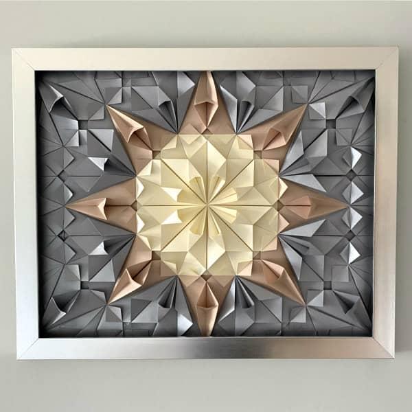 modular origami wall art