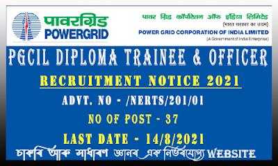 PGCIL Recruitment 2021 - Diploma Trainee and Jr Officer for NE Region