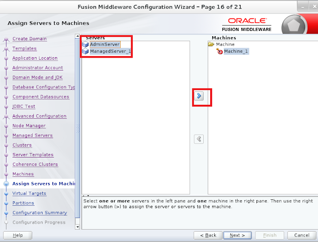 Weblogic domain creation step 16