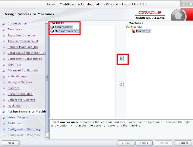 Weblogic domain creation step 16