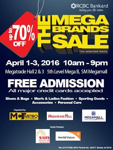 e790667ae458b MegaBrands Summer SALE at SM Megatrade  April 2016