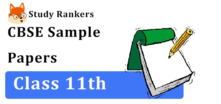 CBSE Class 11 Sample Papers