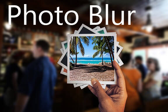 how to blur photo