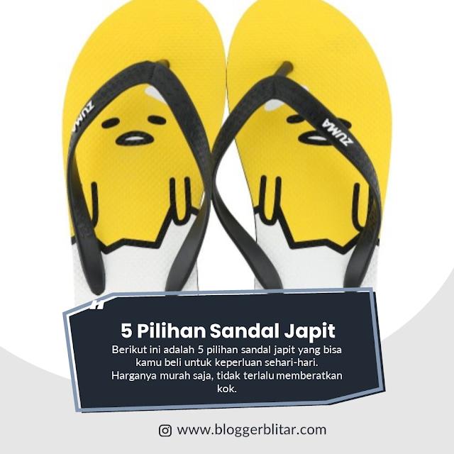 5 Pilihan Sandal Japit yang Sesuai untuk Pergi Solat Jumat