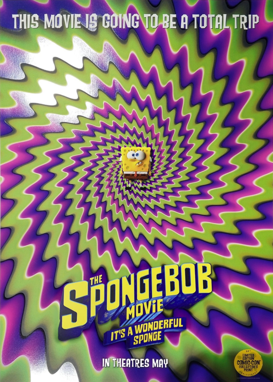 Nick Com Spongebob Movie : spongebob, movie, NickALive!:, Nickelodeon, Unveils, First, SpongeBob, Movie:, Wonderful, Sponge', Poster
