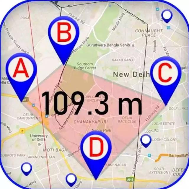 حاسبة مساحة الأراضي وآلة حاسبة المسافة بين نقطتين