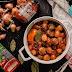 Μανιτάρια στιφάδο κοκκινιστά με πετιμέζι
