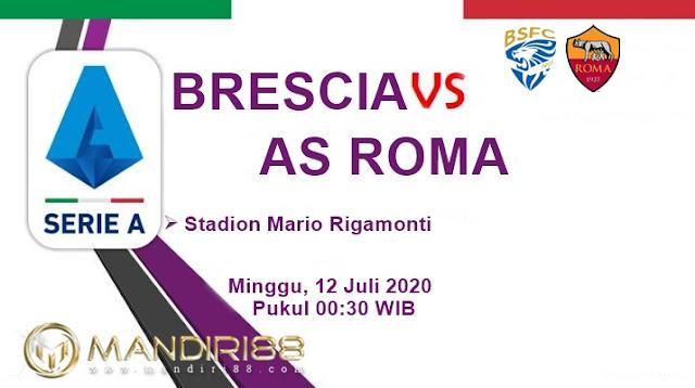 Prediksi Brescia Vs AS Roma, Minggu 12 Juli 2020 Pukul 00.30 WIB