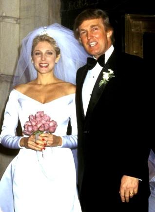 Foto de Donald Trump en su segunda boda con su ex esposa