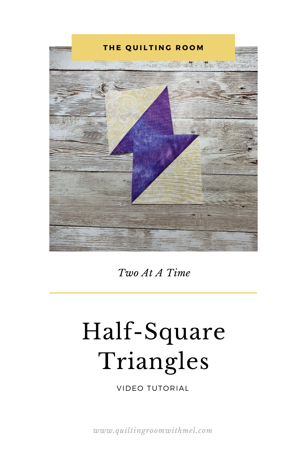 We show you how to make half-square triangles two at a time plus we explain the math formula so you can make them any size.