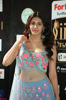Amyra Dastur in Flower Print Choli Transparent Chunni at IIFA Utsavam Awards 30.JPG