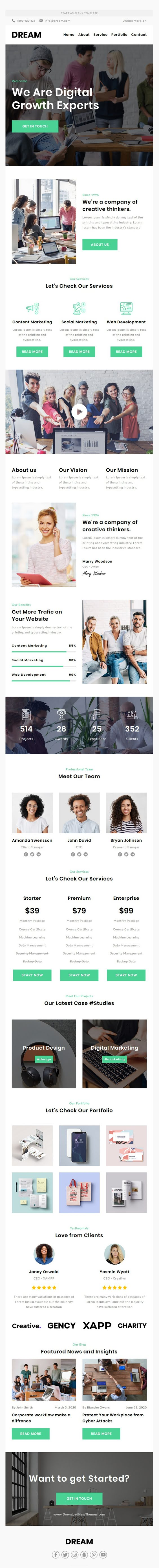 Responsive Email Template For Agency With Free Email Editor