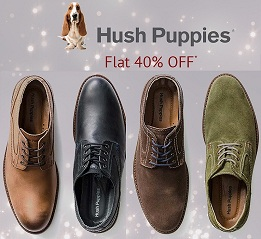 Flat 40% Off on Hush Puppies Men's Footwear @ ShoppersStop