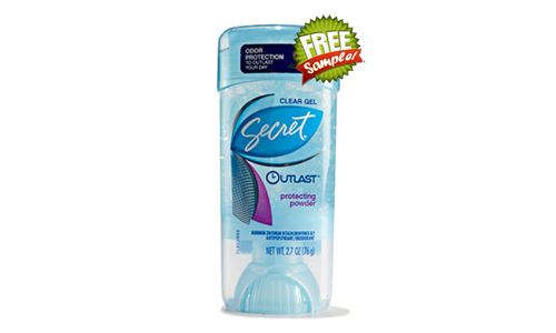 FREE Secret Outlast Clear Gel Sample, FREE Sample of Secret Outlast Clear Gel, Secret Outlast Clear Gel FREE Sample, Secret Outlast Clear Gel, FREE Secret Outlast Sample, FREE Sample of Secret Outlast, Secret Outlast FREE Sample, Secret Outlast