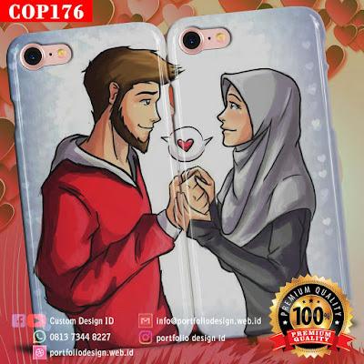 Desain sendiri casing couple muslim terbaru free COP176