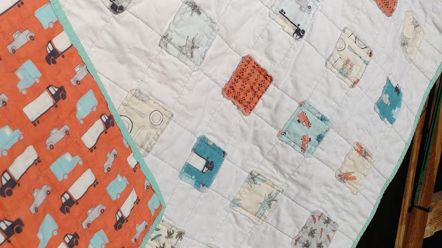 Quick and easy raw edge applique baby quilt