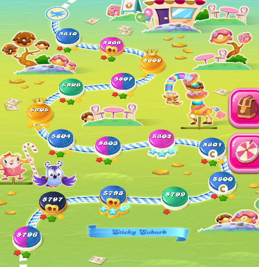 Candy Crush Saga level 5796-5810