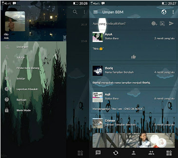BBM Mod Transparent Nature Theme V3.2.5.12 Apk